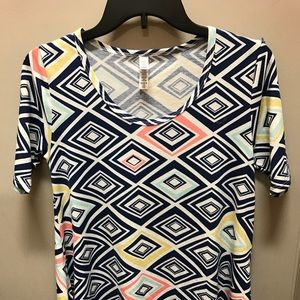 Lularoe Blouse XXS Short sleeves Made in USA